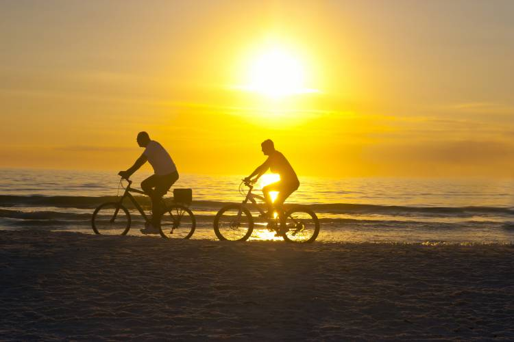 Cape San Blas Vacationers on Bikes